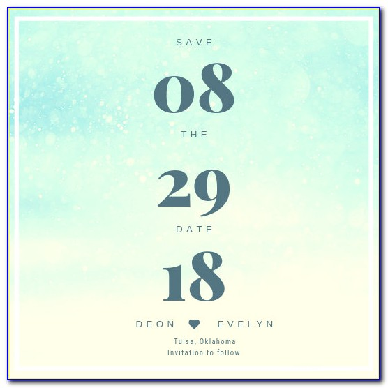Make Your Own Save The Date Templates