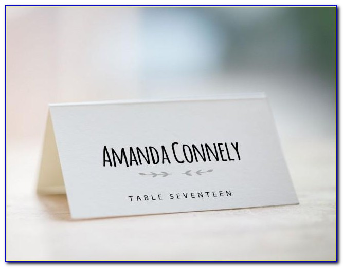 Make Your Own Wedding Name Place Cards