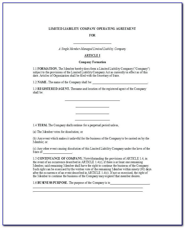 Manager Managed Llc Operating Agreement Florida