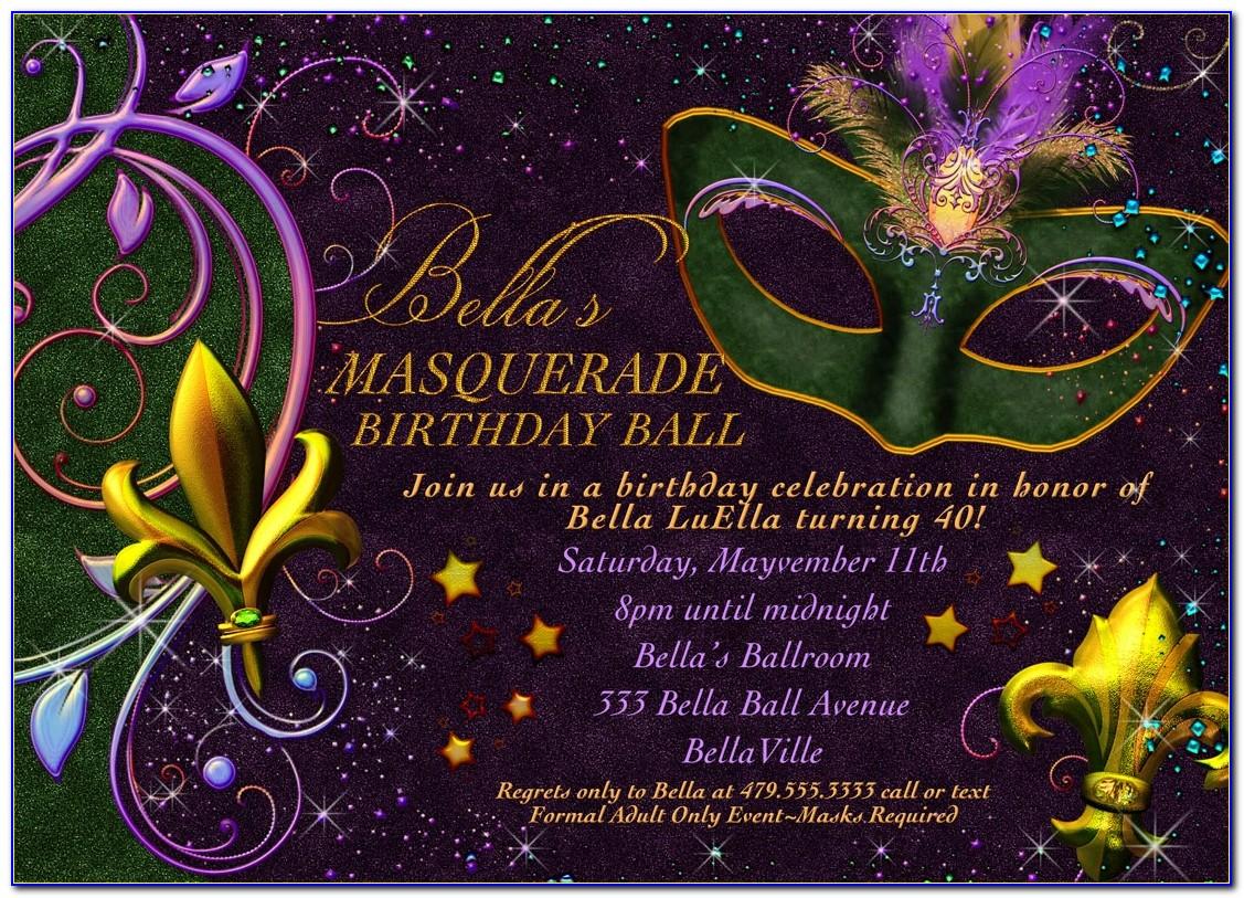Mardi Gras Invitation Template