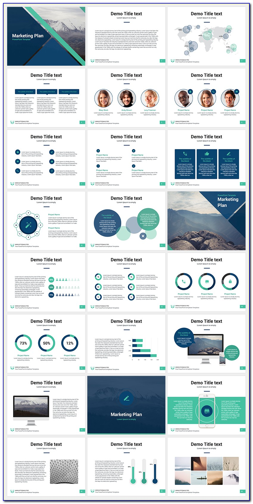 Marketing Plan Presentation Template Ppt