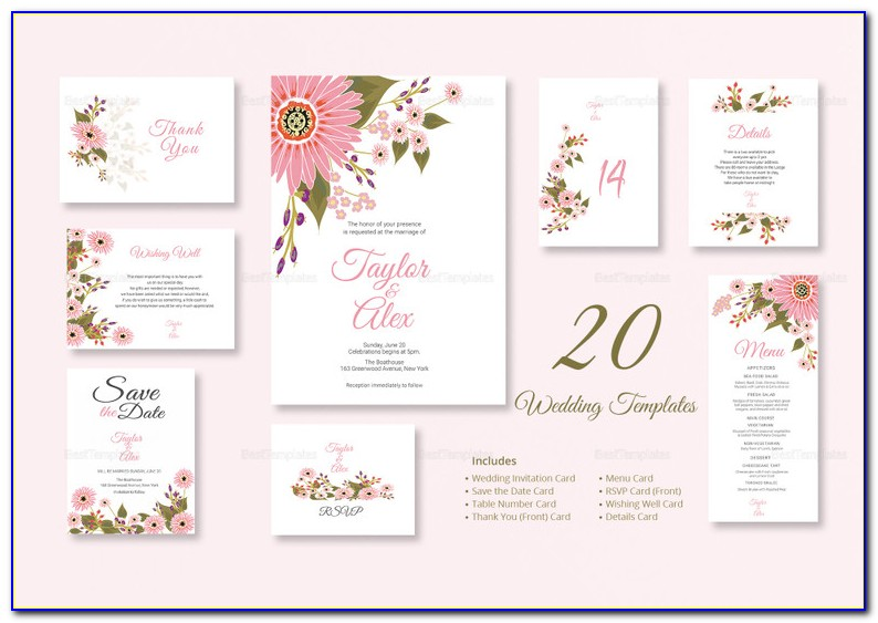 Wedding Invitation Card Template Editable Elegant 35 Floral Wedding Templates Editable Psd Ai Format Download
