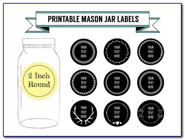 Mason Jar Lid Sticker Template