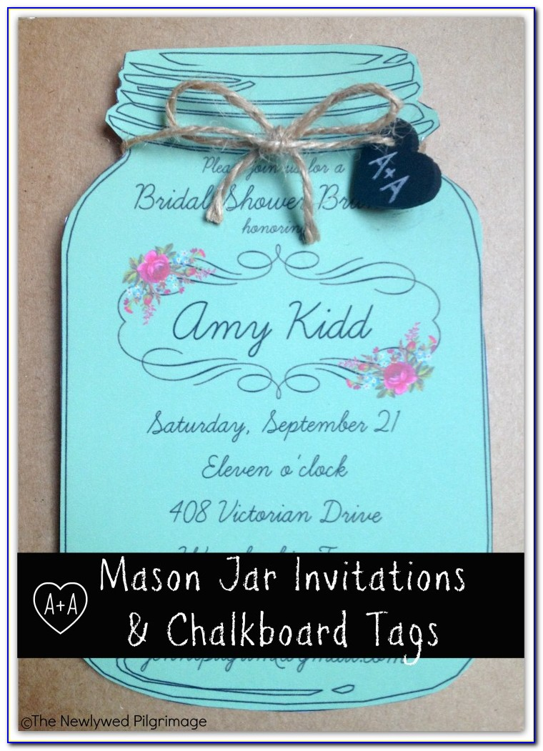 Mason Jar Wedding Invitations Template Free