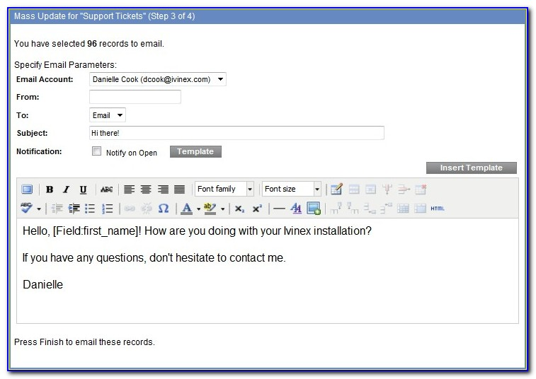 Mass Email Templates Salesforce
