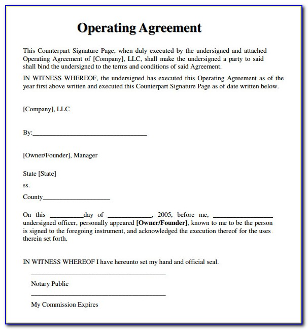 Member Managed Llc Operating Agreement