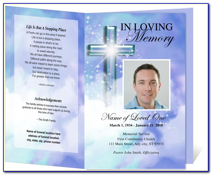 Memorial Card Template Microsoft Word