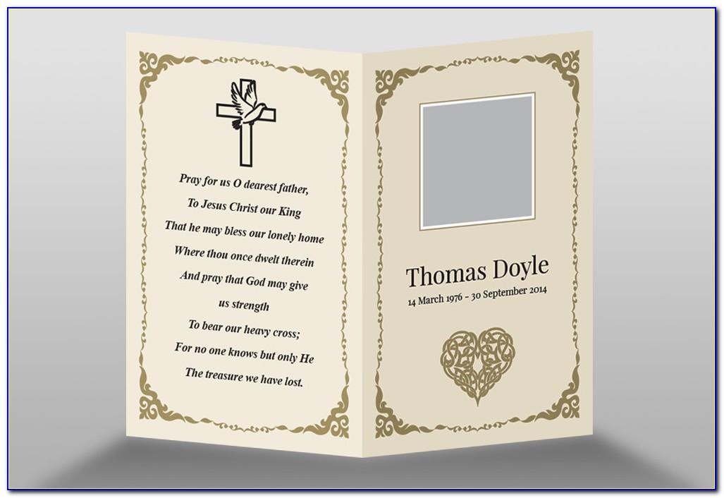 Memorial Cards Templates Free