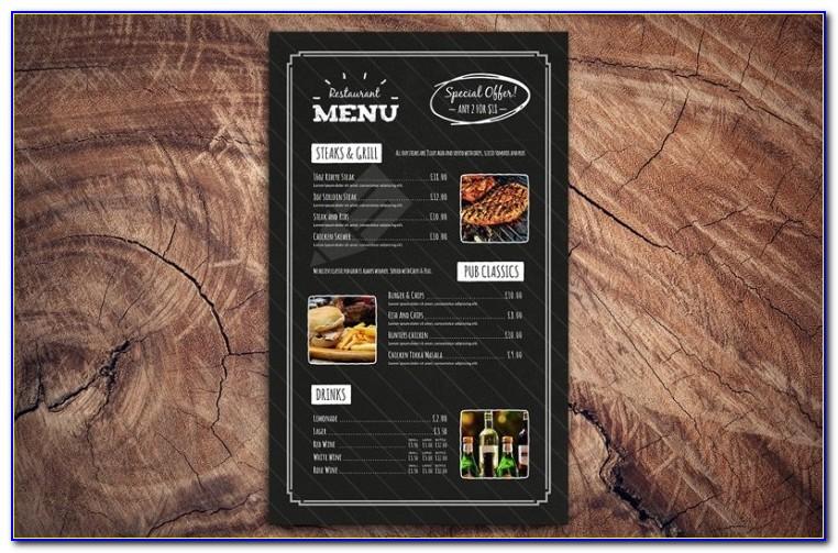 Menu Board Design Templates Free Download