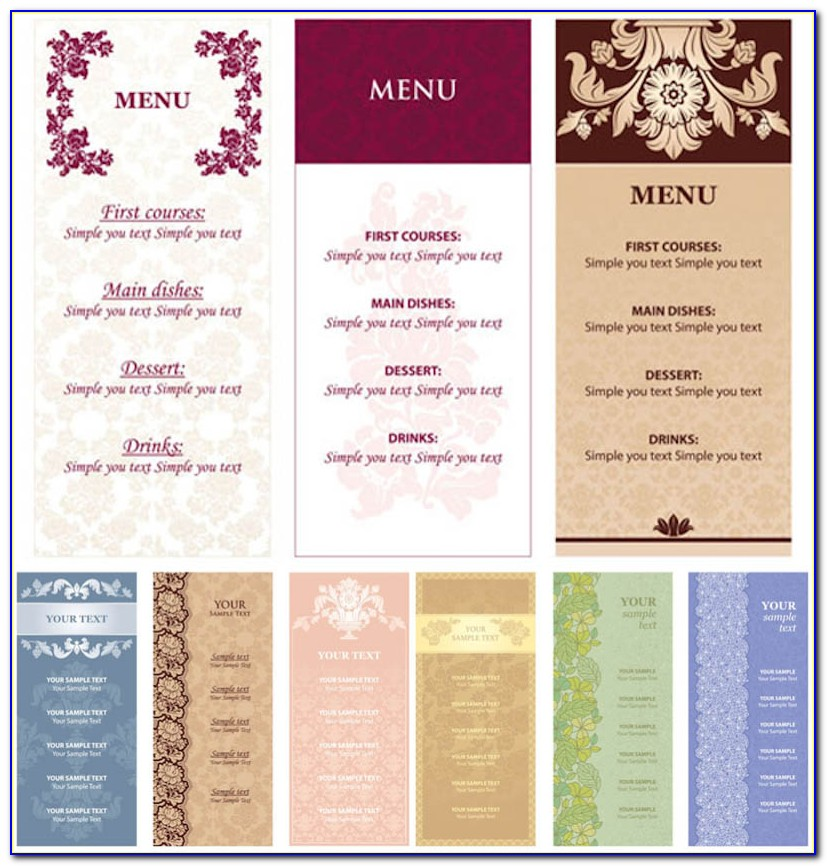 Menu Design Templates Online