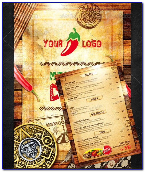 Mexican Restaurant Menu Psd Template Free