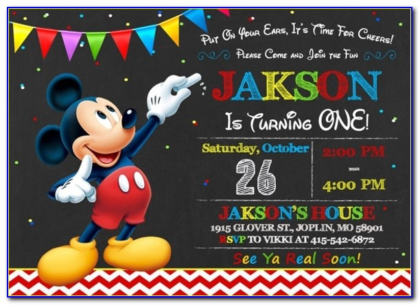 20+ Mickey Mouse Invitation Template | Free & Premium Templates In Mickey Mouse Template Invitation