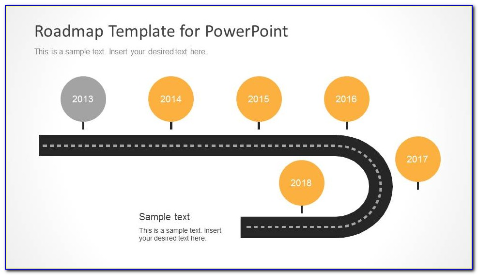Microsoft Powerpoint Roadmap Template Free Download