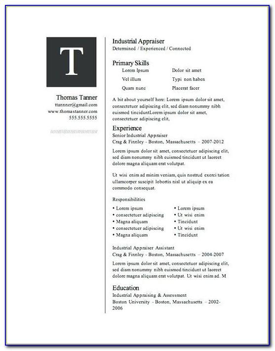 Microsoft Word Resume Template Download Mac