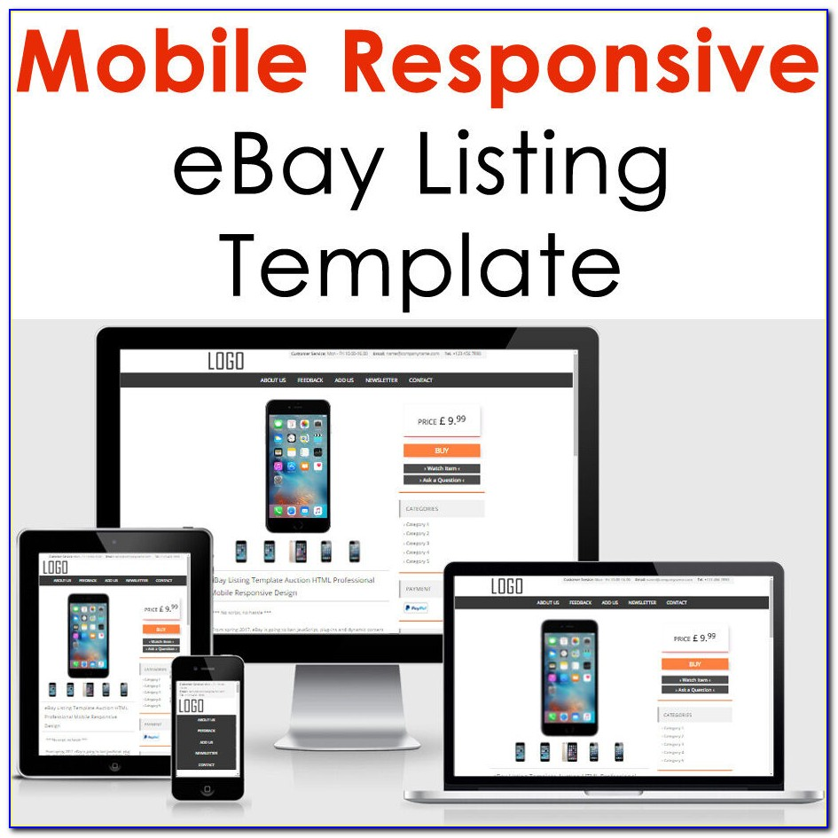 Mobile Responsive Ebay Listing Template
