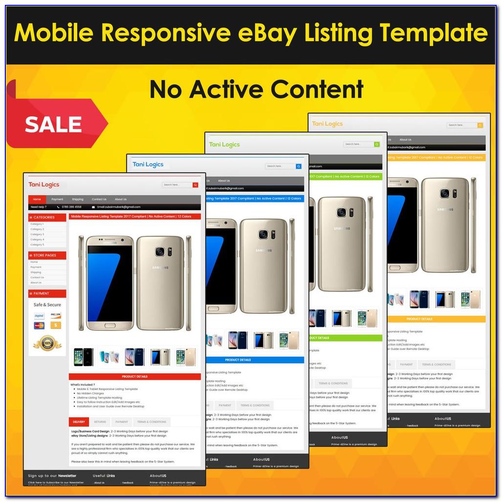 Mobile Responsive Ebay Template