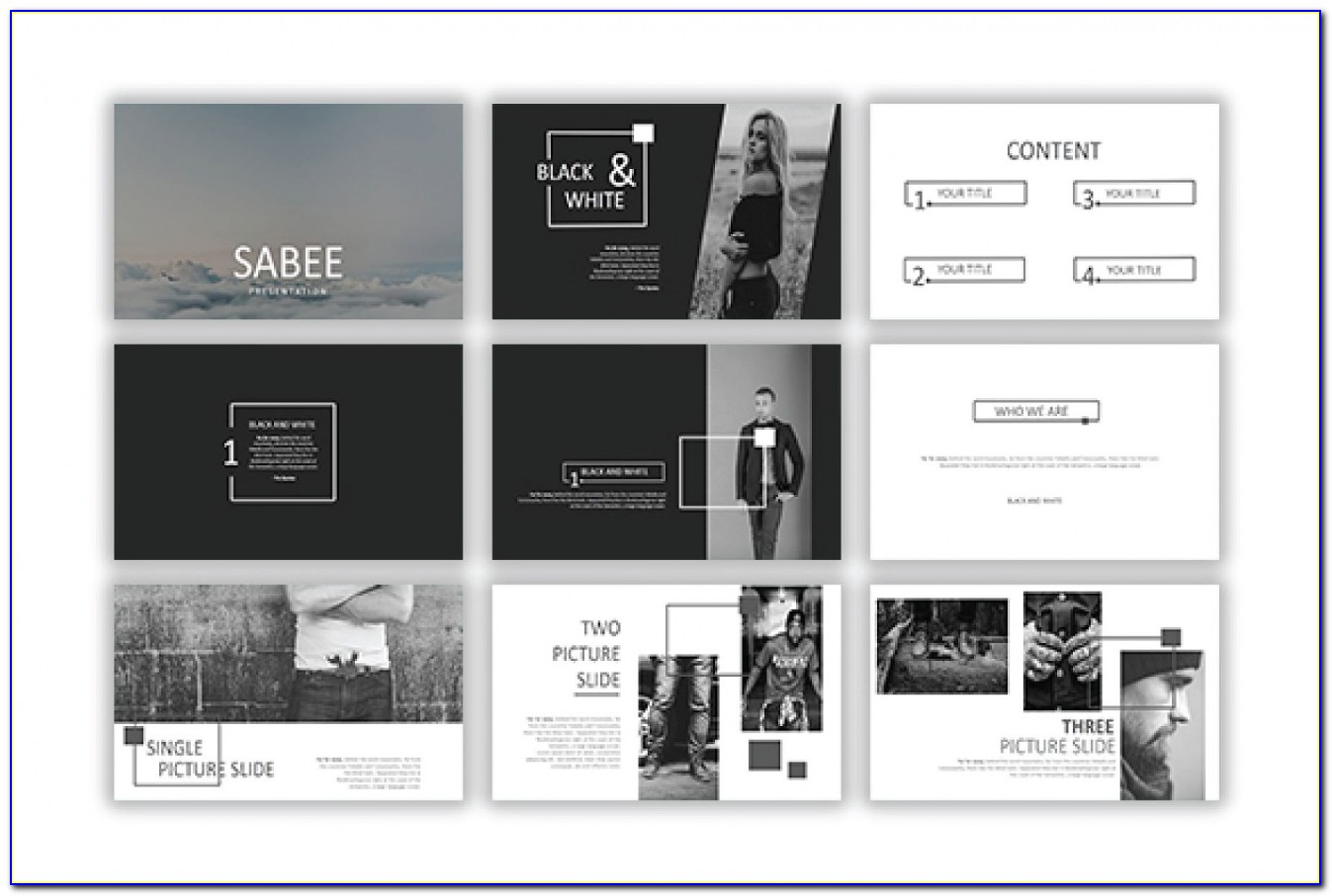 Modern Blue Powerpoint Presentation Template