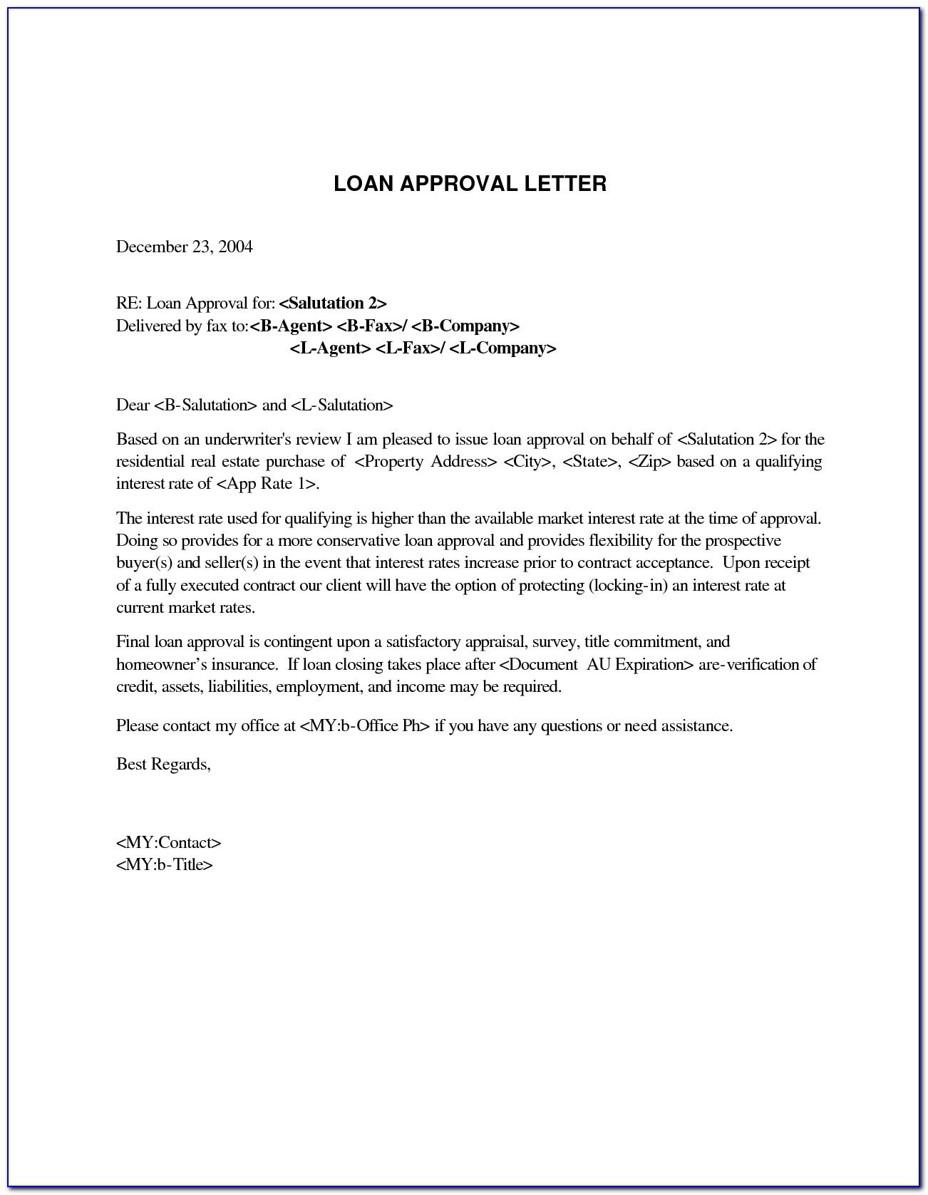 Mortgage Pre Qualification Letter Template Mortgage Pre Approval Letter Template Collection