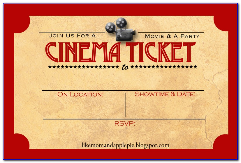 Movie Birthday Invite Template
