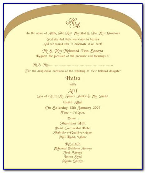 Muslim Wedding Invitation Ppt Templates Free Download