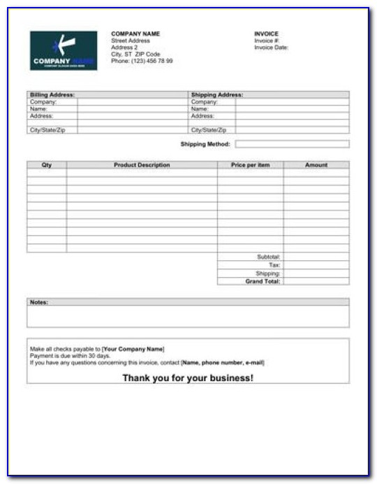 Myob Retail Manager Invoice Template