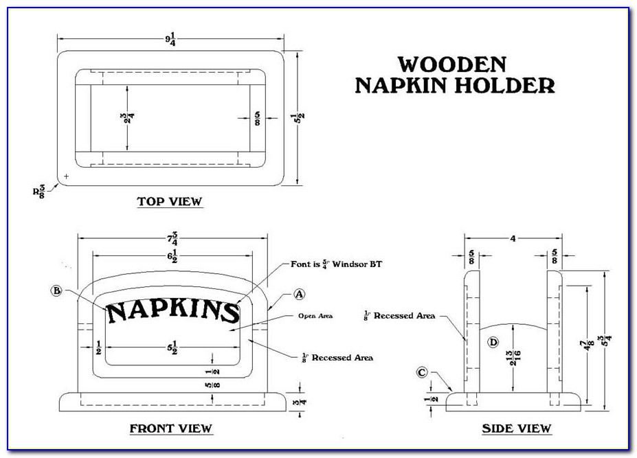 Napkin Ring Template Pdf