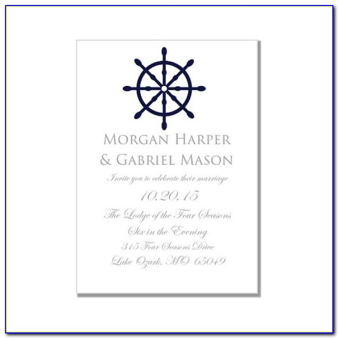 Nautical Themed Wedding Invitation Template