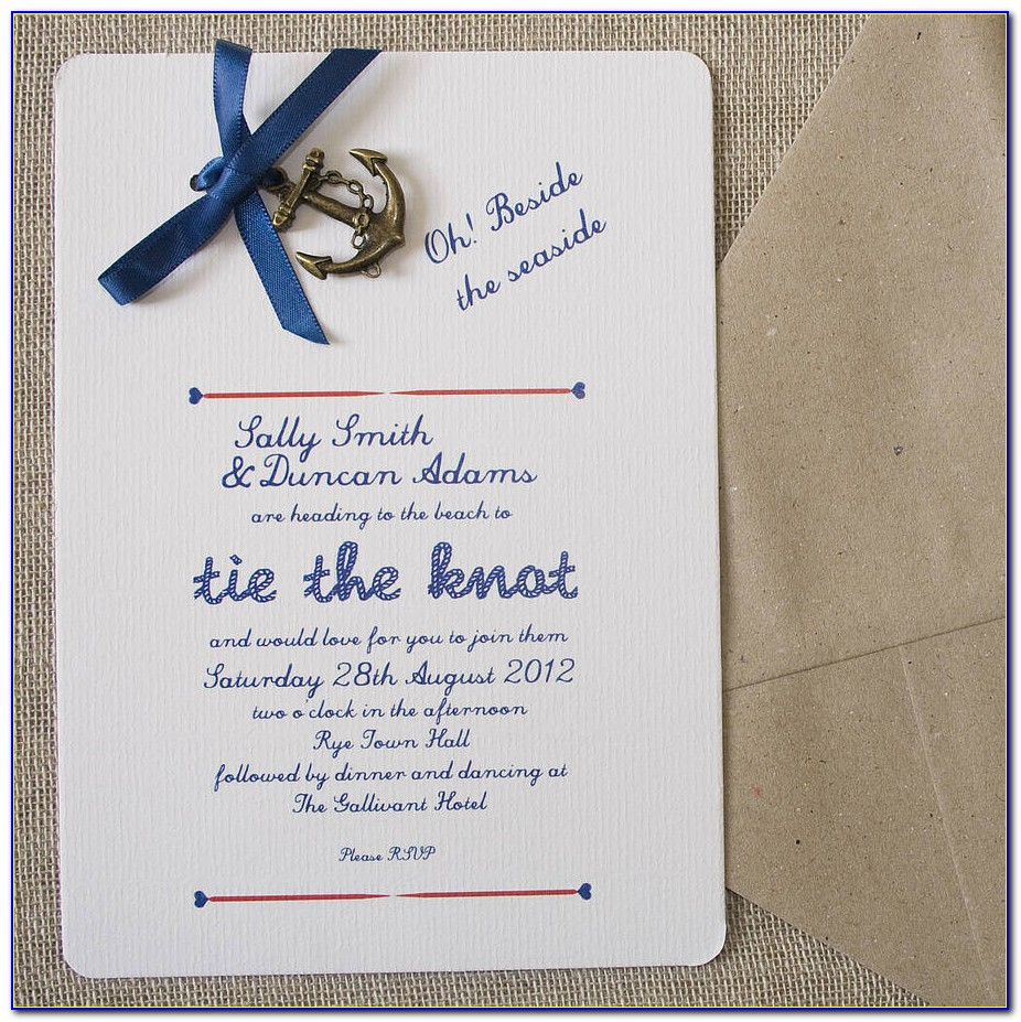 Nautical Wedding Invitation Template Free