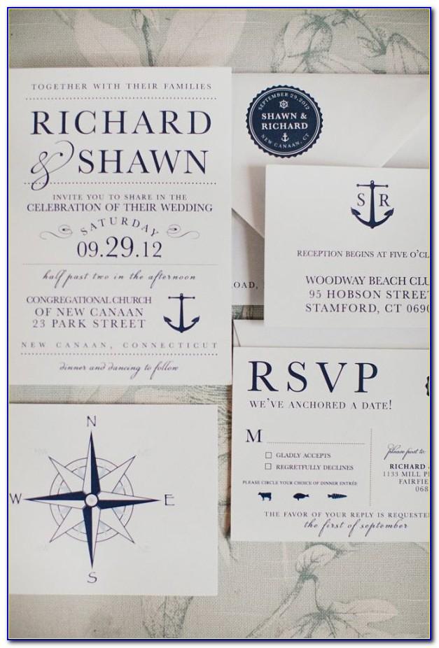 Nautical Wedding Invitation Templates
