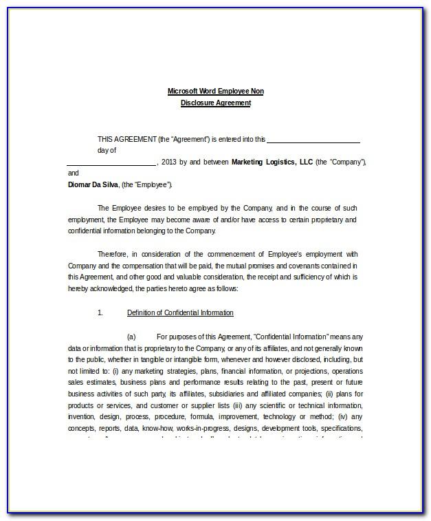 Ncnd Agreement Definition