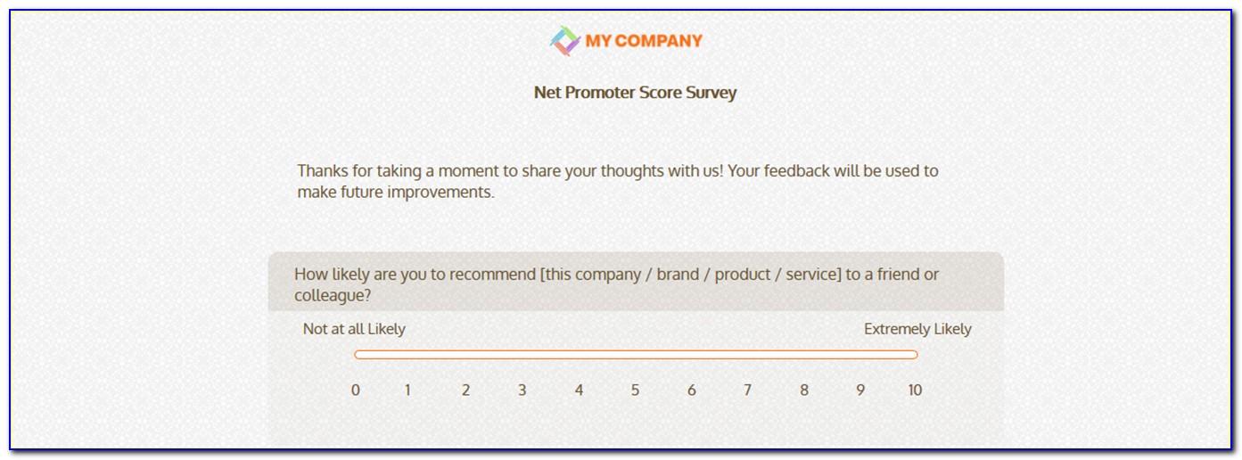 Net Promoter Score Nps Survey