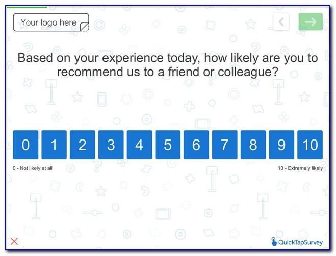 Net Promoter Survey Sample