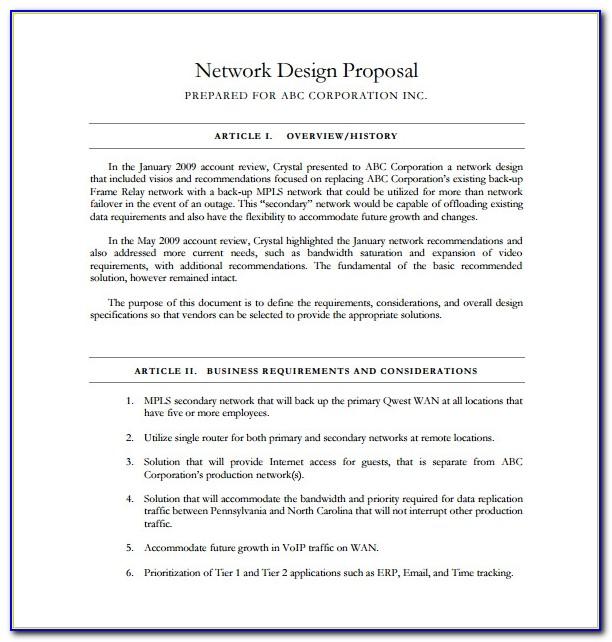 Network Design Proposal Document