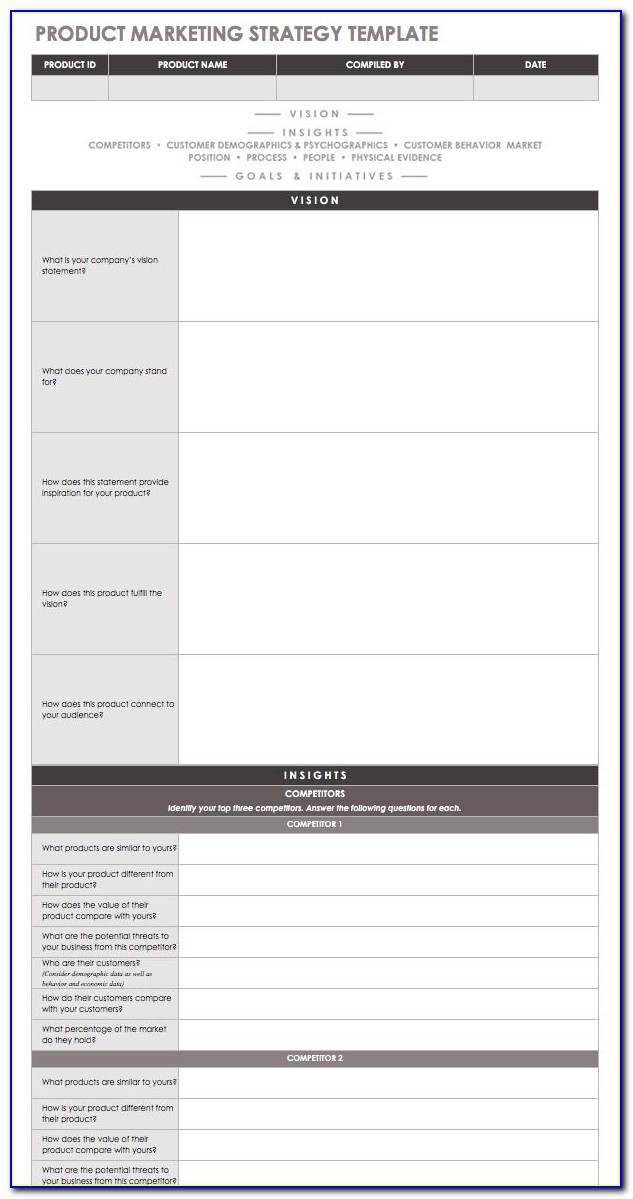 New Product Marketing Strategy Template
