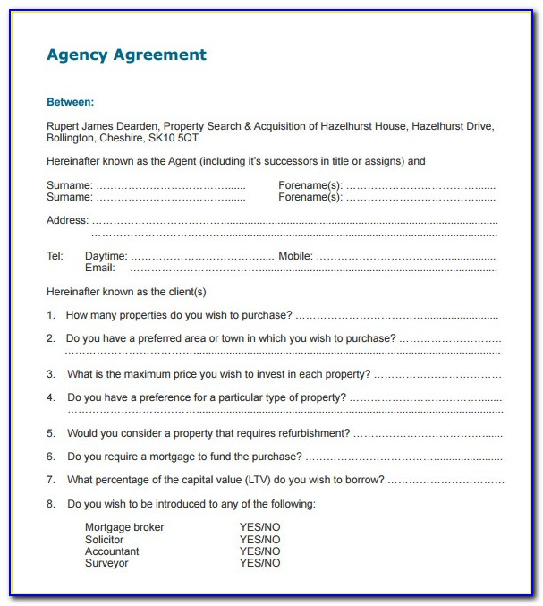 Nurse Staffing Agency Contract Template