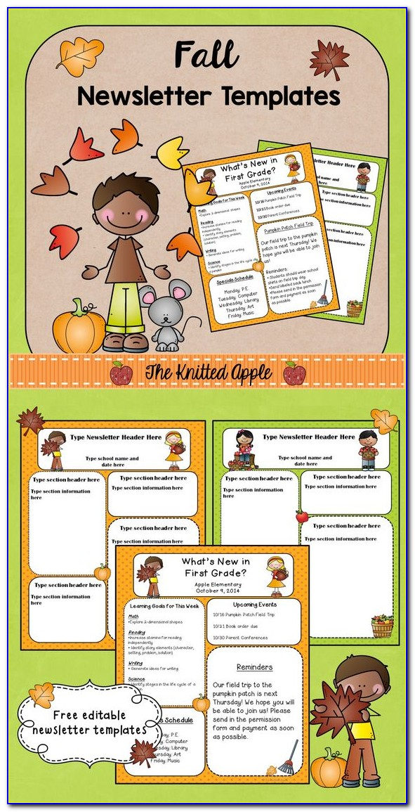 October Newsletter Templates Free