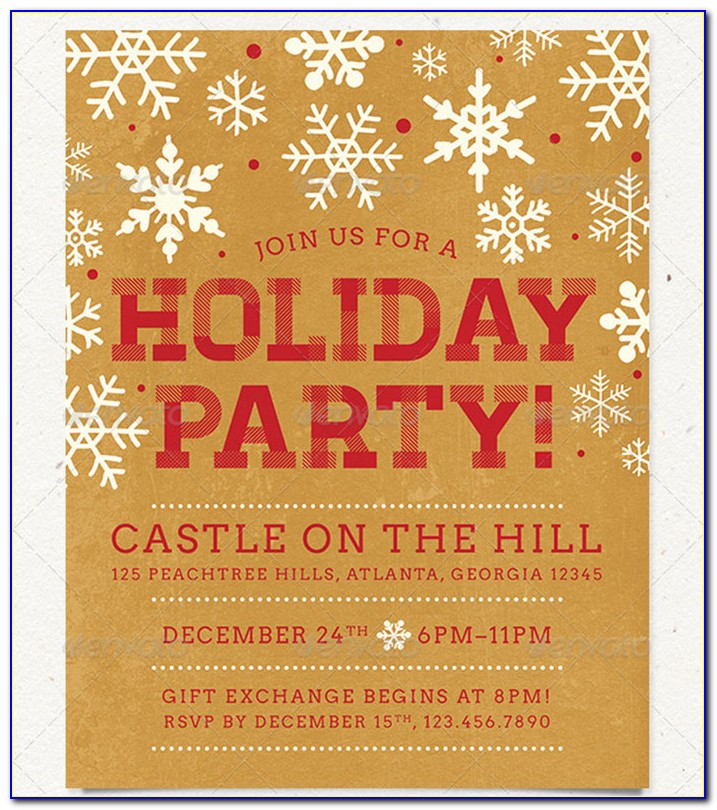 Office Christmas Party Invitations Templates