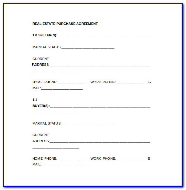Ohio Real Estate Purchase Agreement Template Free