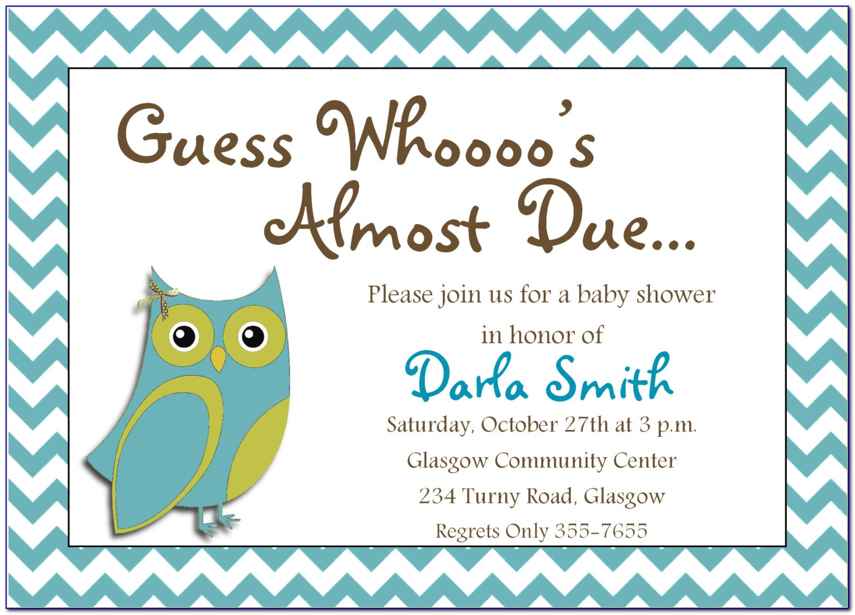 Online Baby Shower Invitation Templates Free