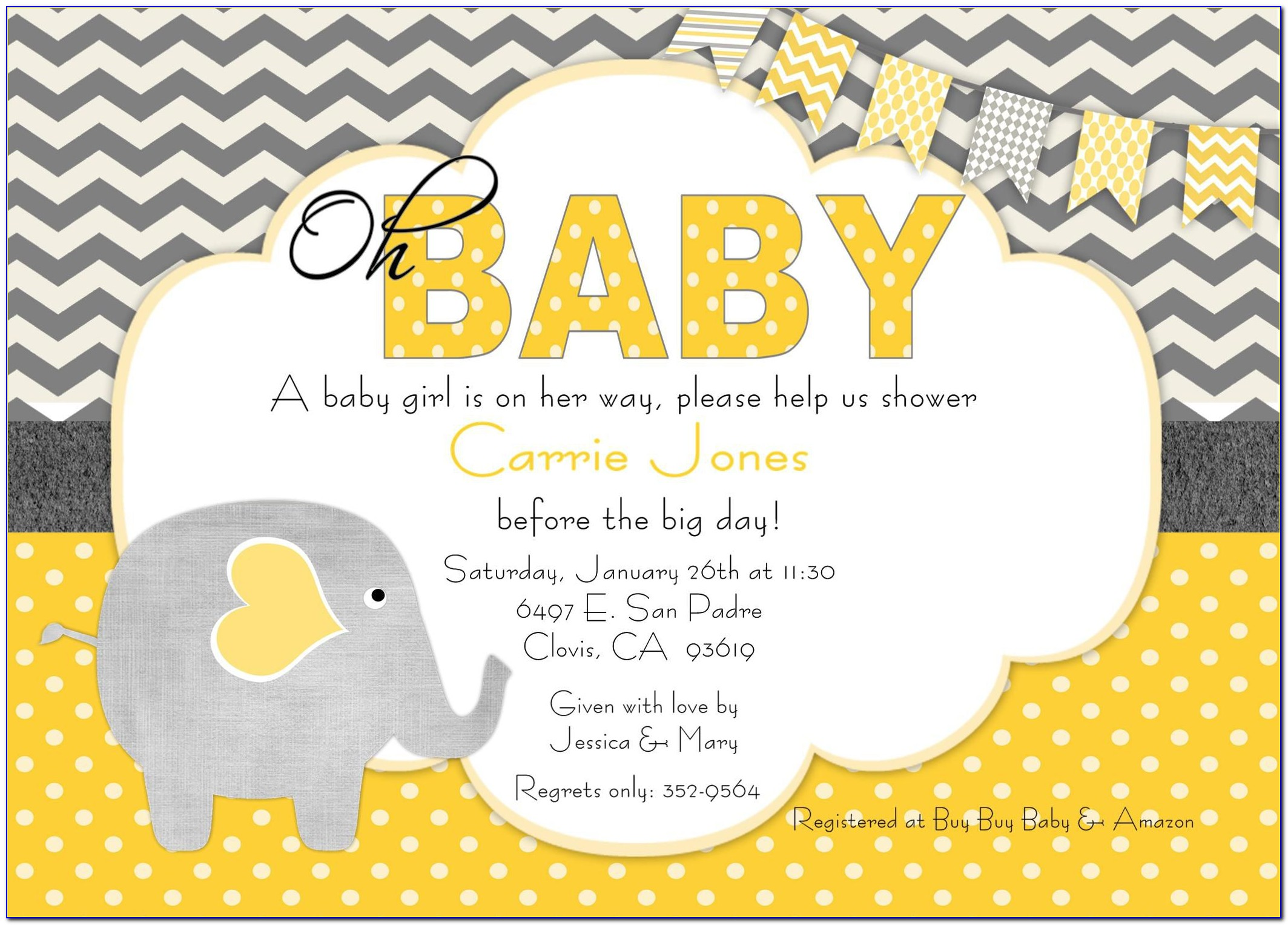 Online Baby Shower Invitation Video Maker