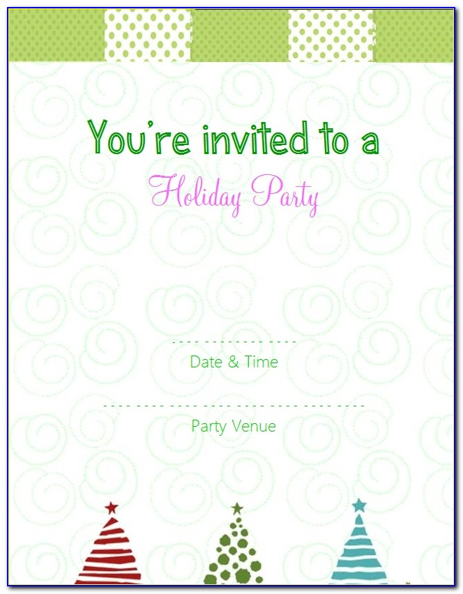 Online Christmas Party Invitation Templates Free