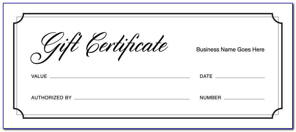 Online Fillable Gift Certificate Template Free