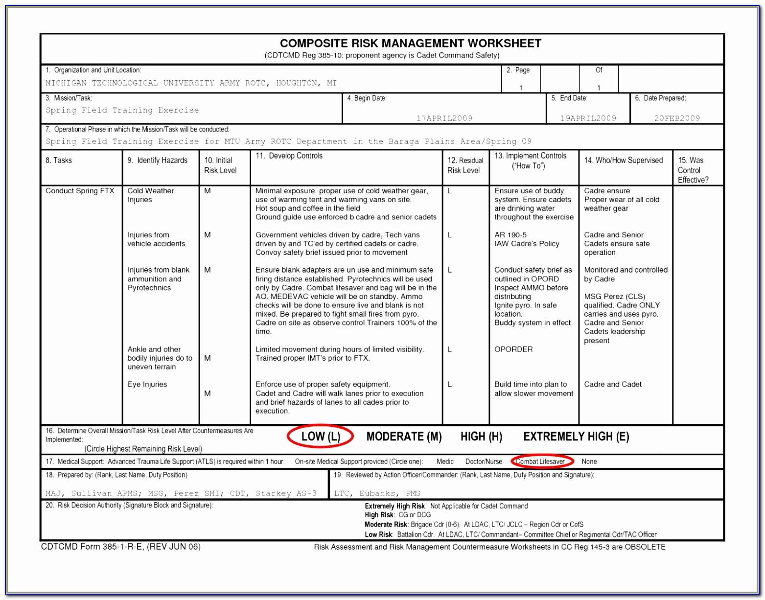 Risk Assessment Spreadsheet With Risk Assessment Spreadsheet Of Risk Analysis Template Excel It Risk