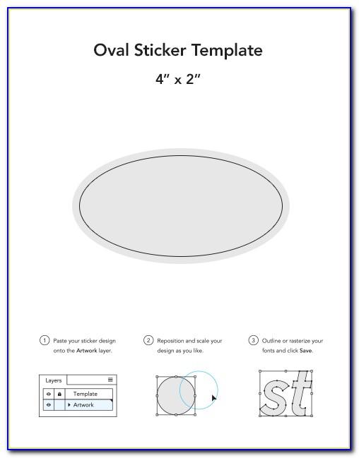 Oval Bumper Sticker Template