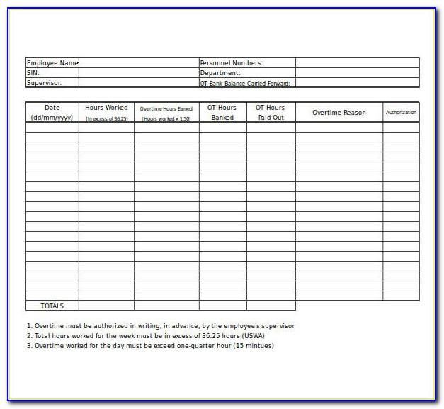 Overtime Spreadsheet Template Uk