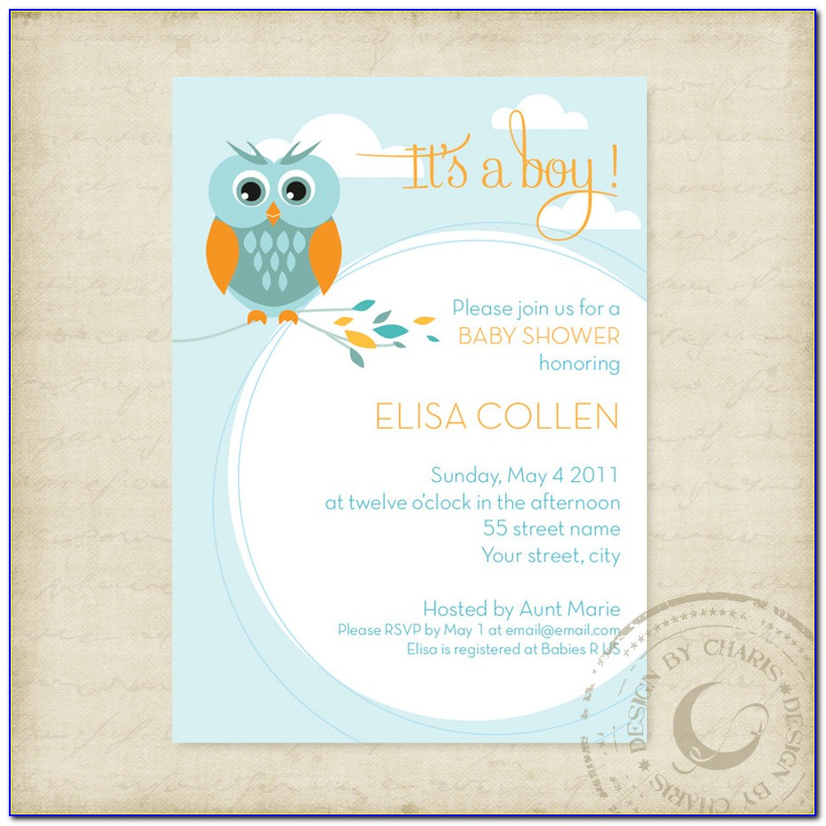 Owl Party Invitation Template