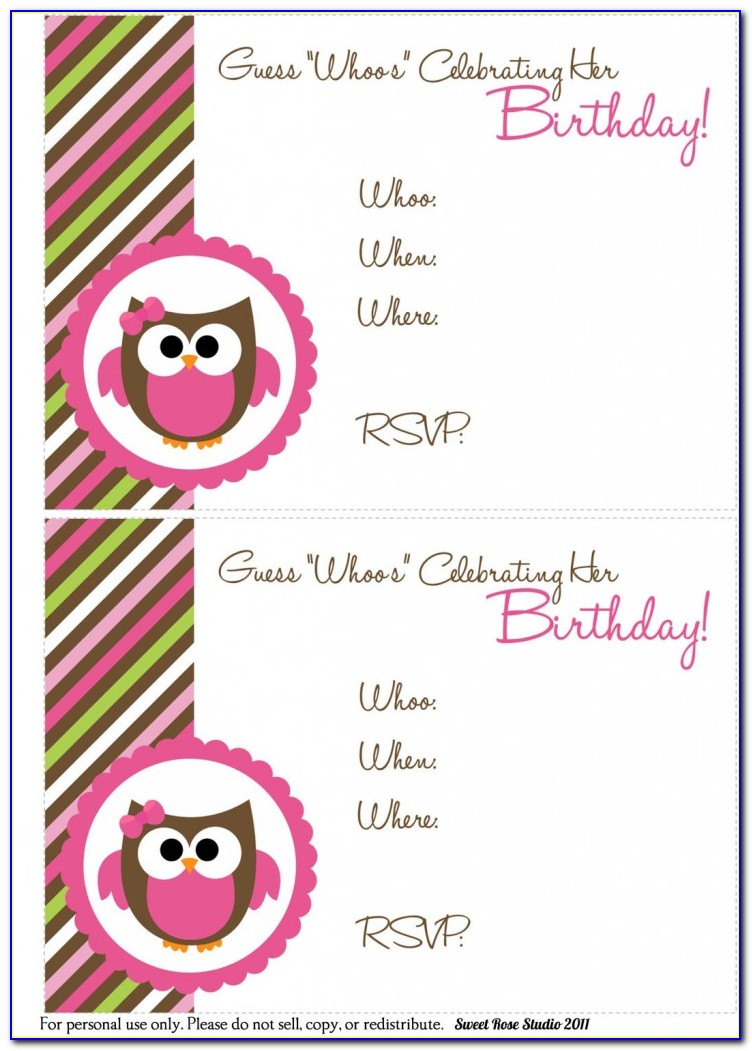 Owl Wedding Invitation Templates