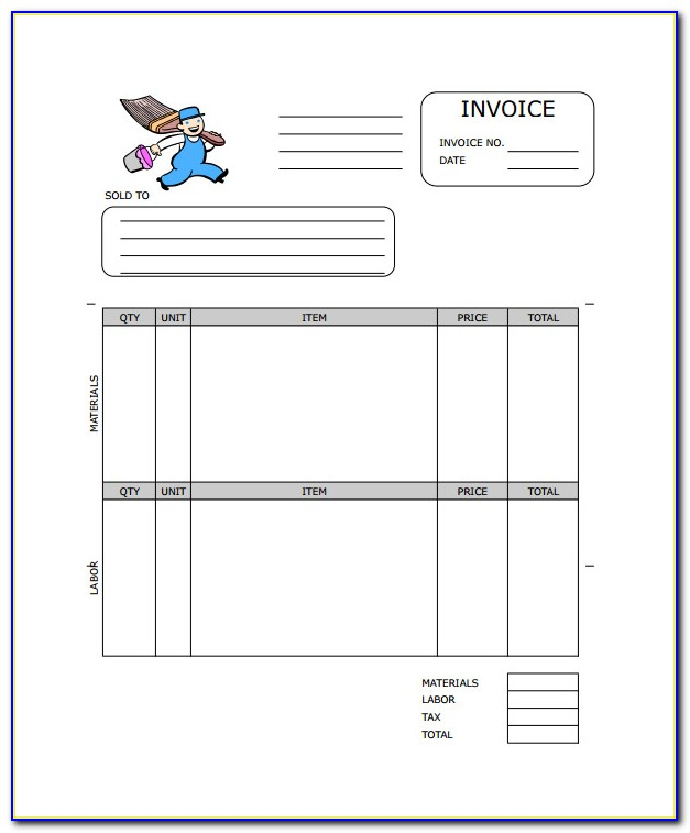 Painting Invoice Template Uk