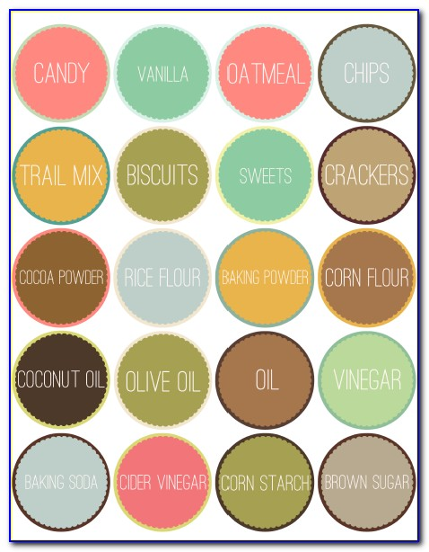 Pantry Labels Template Free