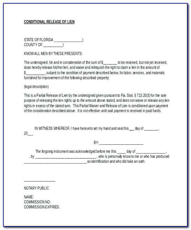 Partial Lien Waiver Form Minnesota